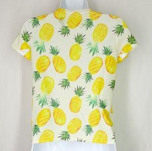 a'gaci Tops - A'gaci pineapples top, size medium, blouse, tee.